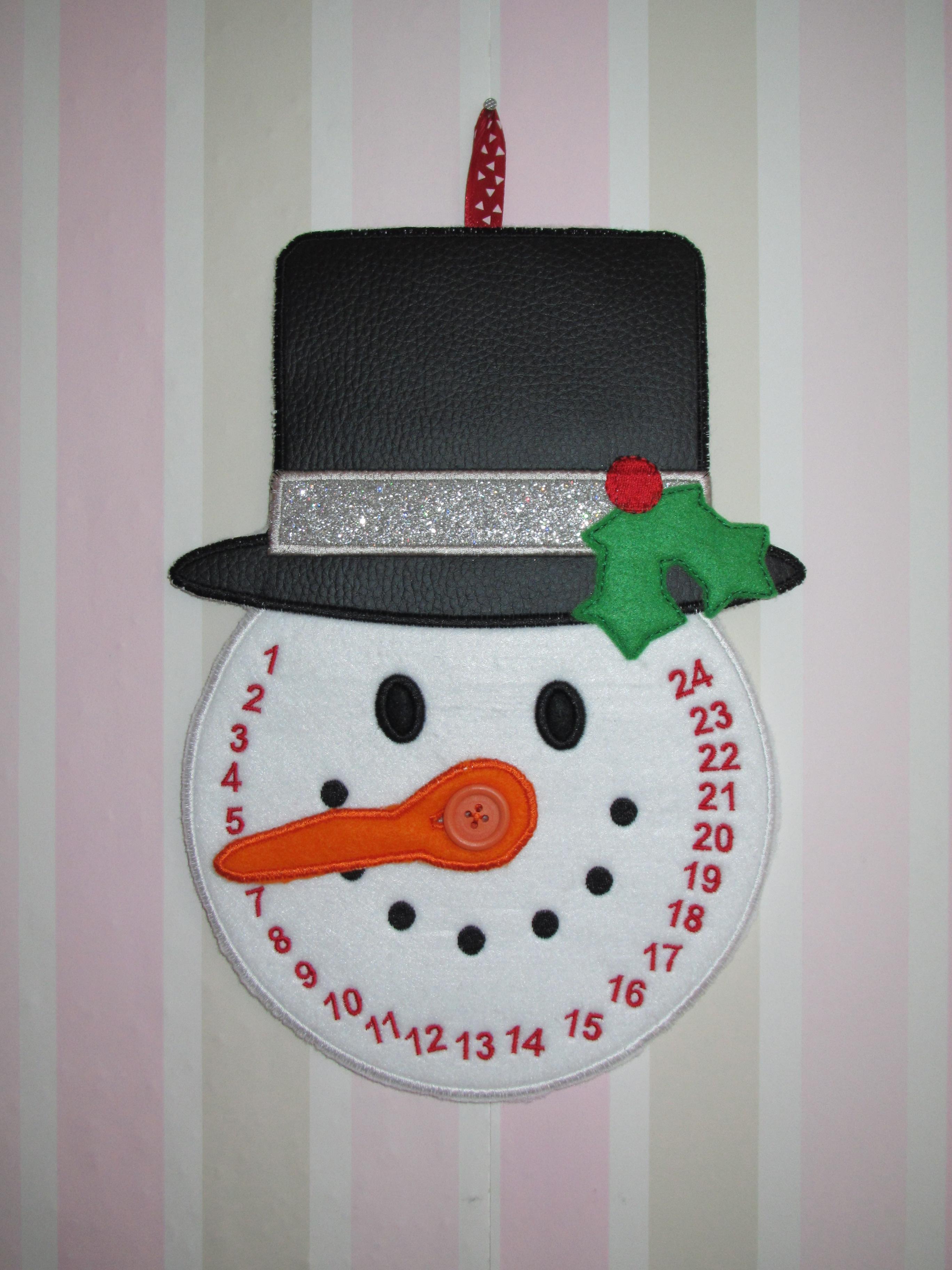Wie lange noch bis Weihnachten? Schneemann Countdown ITH und 1 ...
