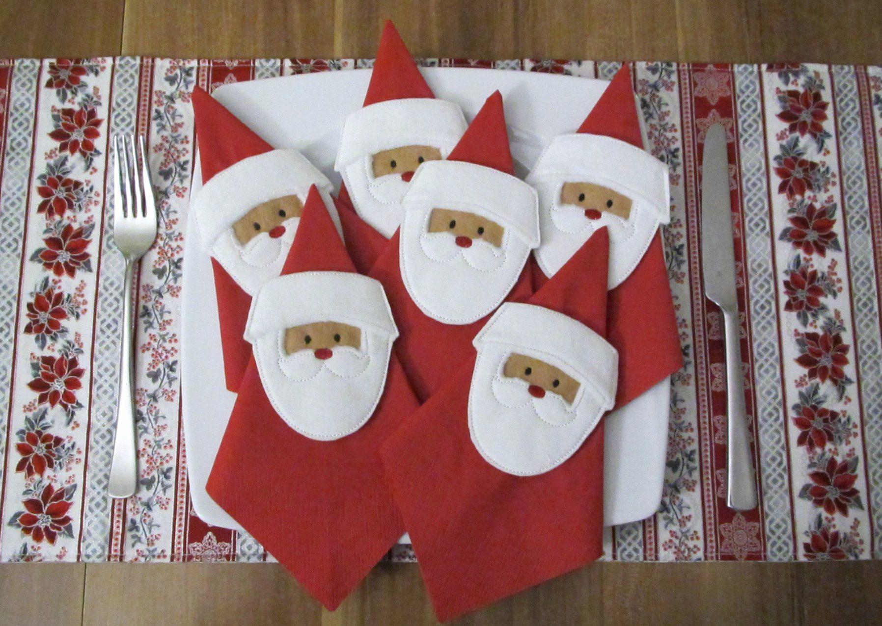 Stickdatei Filz Nikolausstiefel ITH Weihnachtsmann